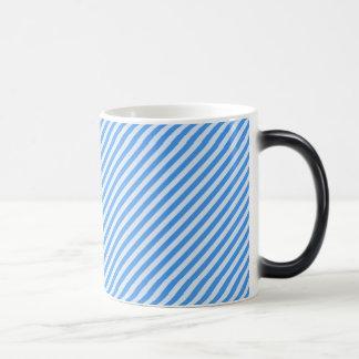 [STR-BLU-01] Blue candy cane striped 11 Oz Magic Heat Color-Changing Coffee Mug