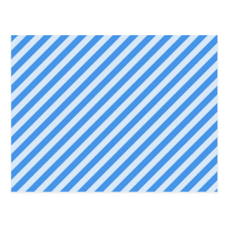 [STR-BLU-01] Blue candy cane striped Postcard
