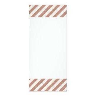 [STR-BRO-1] Brown and white striped Card