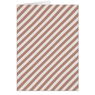 [STR-BRO-1] Brown and white striped Card