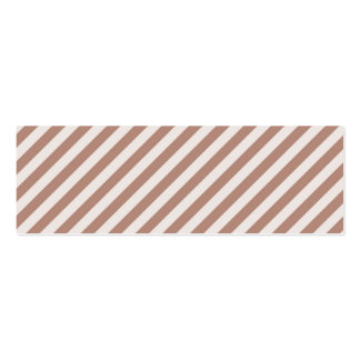 [STR-BRO-1] Brown and white striped Mini Business Card
