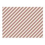[STR-BRO-1] Brown and white striped Postcard