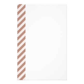 [STR-BRO-1] Brown and white striped Stationery Design