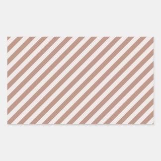 [STR-BRO-1] Brown y blanco rayados Rectangular Altavoz