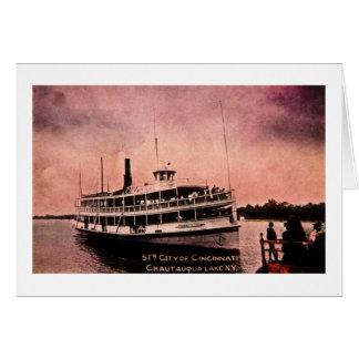 Str. City of Cincinnati, Chautauqua Lake, New York Card