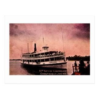 Str. City of Cincinnati, Chautauqua Lake, New York Postcard