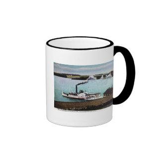 Str. Mt. Washington, Lake Winnipesaukee, N.H. Ringer Coffee Mug