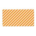 [STR-OR-1] Bastón de caramelo anaranjado y blanco  Etiqueta De Envío