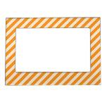 [STR-OR-1] Bastón de caramelo anaranjado y blanco  Marcos Magneticos De Fotos