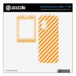 [STR-OR-1] Bastón de caramelo anaranjado y blanco  Samsung Gravity Skin