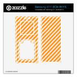 [STR-OR-1] Bastón de caramelo anaranjado y blanco  Samsung R211 Skins