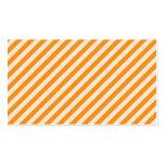 [STR-OR-1] Bastón de caramelo anaranjado y blanco  Tarjeta De Visita