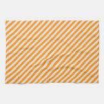 [STR-OR-1] Naranja y blanco rayados Toalla De Mano