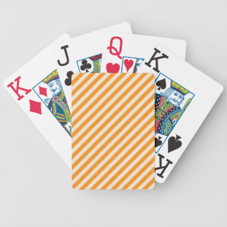 [STR-OR-1] Orange and white candy cane striped Bicycle Playing Cards