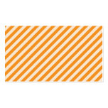 [STR-OR-1] Orange and white candy cane striped Double-Sided Standard Business Cards (Pack Of 100)