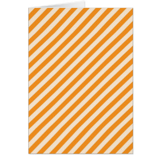 [STR-OR-1] Orange and white candy cane striped Card