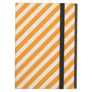 [STR-OR-1] Orange and white candy cane striped iPad Air Case