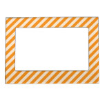 [STR-OR-1] Orange and white candy cane striped Magnetic Photo Frames