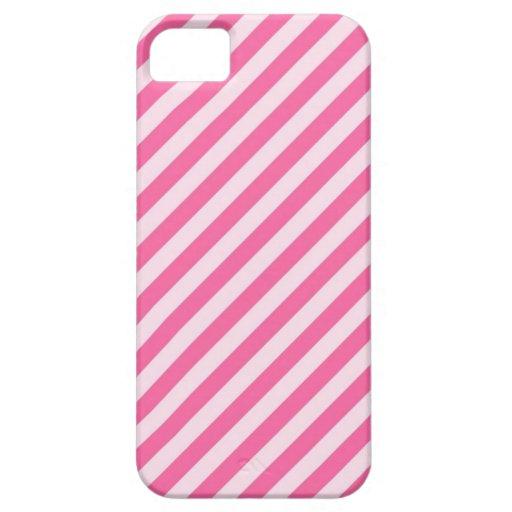 [STR-PINK-01] Bastón de caramelo rosado rayado iPhone 5 Protector