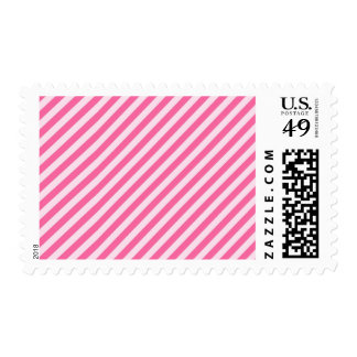 [STR-PINK-01] Pink candy cane striped Postage Stamps