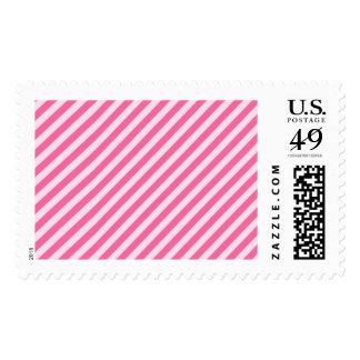 [STR-PINK-01] Pink candy cane striped Postage Stamp