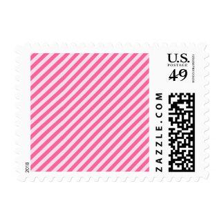 [STR-PINK-01] Pink candy cane striped Postage
