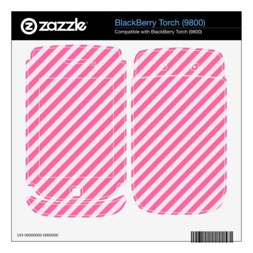 [STR-PINK-01] Pink candy cane striped BlackBerry Torch Skin
