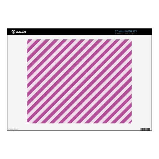 [STR-PU-1] Bastón de caramelo púrpura y blanco ray Portátil Skins