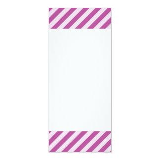 [STR-PU-1] Purple and white candy cane striped Card