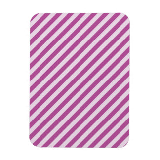 [STR-PU-1] Purple and white candy cane striped Magnet
