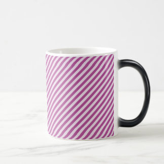 [STR-PU-1] Purple and white candy cane striped 11 Oz Magic Heat Color-Changing Coffee Mug
