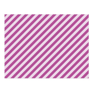 [STR-PU-1] Purple and white candy cane striped Postcard