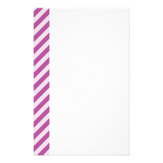 [STR-PU-1] Purple and white candy cane striped Stationery