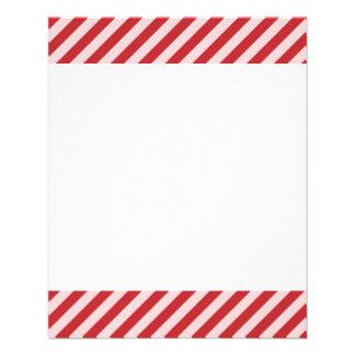 """[STR-RD-1] Bastón de caramelo rojo y blanco rayado Folleto 4.5"""" X 5.6"""""""
