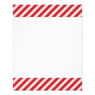 "[STR-RD-1] Red and white candy cane striped 4.5"" X 5.6"" Flyer"