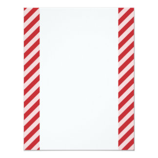 [STR-RD-1] Red and white candy cane striped Card
