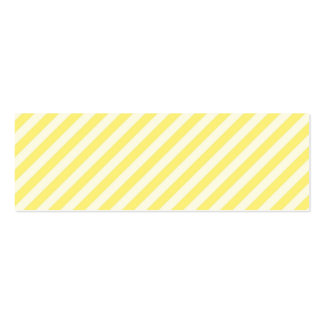 [STR-YE-01] Yellow candy cane striped Double-Sided Mini Business Cards (Pack Of 20)