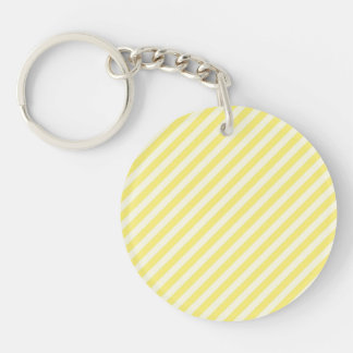 [STR-YE-01] Yellow candy cane striped Double-Sided Round Acrylic Keychain
