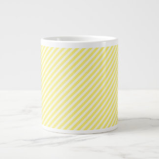 [STR-YE-01] Yellow candy cane striped 20 Oz Large Ceramic Coffee Mug