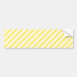 [STR-YE-1] Yellow and white candy cane striped Car Bumper Sticker