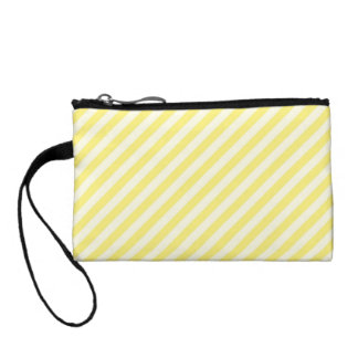 [STR-YE-1] Yellow and white candy cane striped Coin Purse