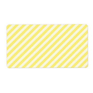 [STR-YE-1] Yellow and white candy cane striped Label