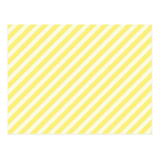 [STR-YE-1] Yellow and white candy cane striped Postcard