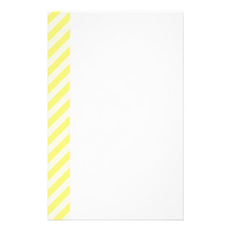 [STR-YE-1] Yellow and white candy cane striped Stationery