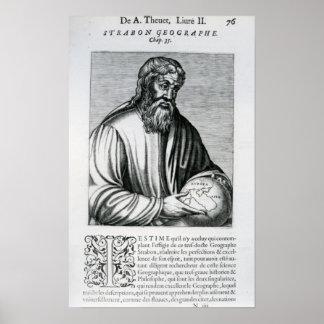 Strabo, illustration from Andre Thevet's Poster