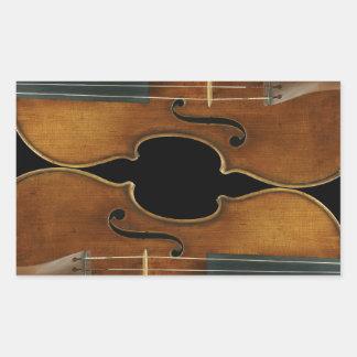 Stradivari Duo Rectangular Sticker