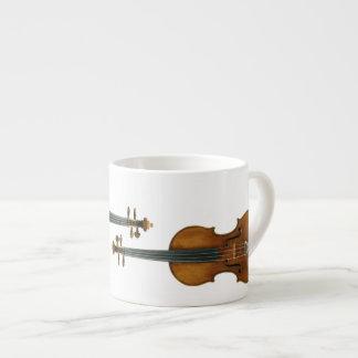 Stradivari se reprodujo en la taza del café expres taza espresso