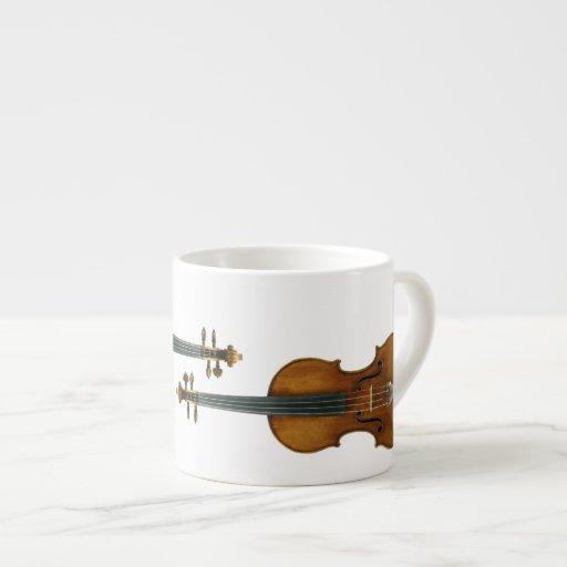 Stradivari Violin Duo Reproduced on Espresso Cup