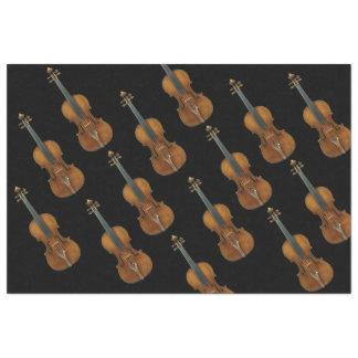 "Stradivari Violin Ensemble on Black 20"" X 30"" Tissue Paper"