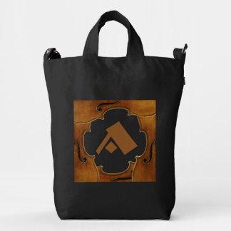 Stradivari Violin Frame Custom Monogram Duck Canvas Bag